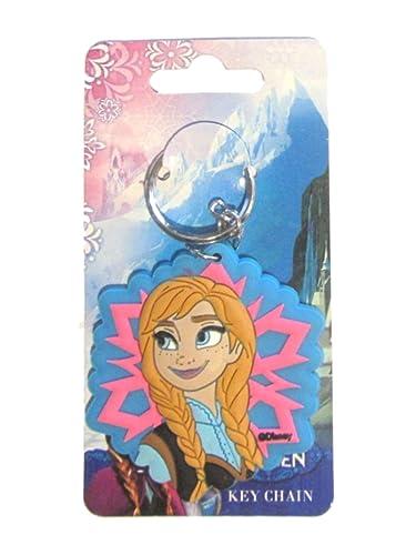 Disney Frozen Elsa Anna Or Olaf Llavero de Goma Grande (Anna ...