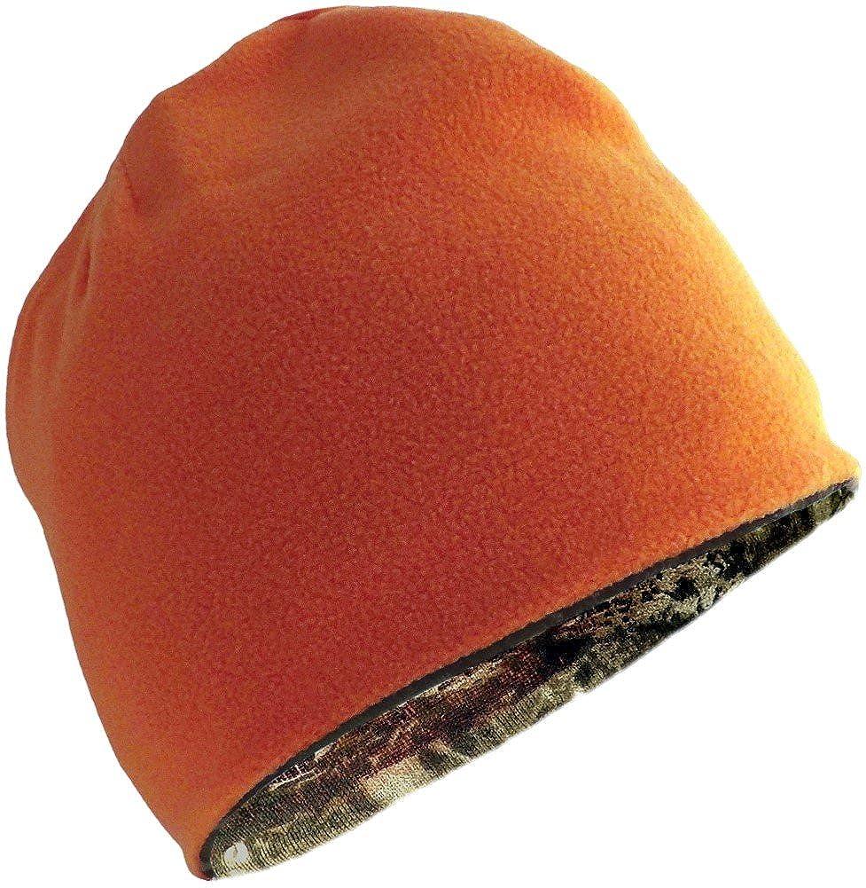 Mossy Oak Break-Up Infinity and Blaze Orange Reversible Beanie Hat Winter Hat