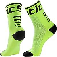Cycling Socks, Running Socks for Men Women, Performance Crew Socks