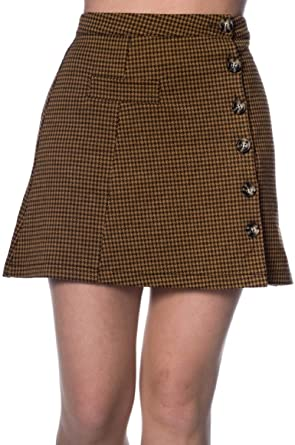 Falda Mini Trapecio A Symetric Hounds Tooth Mini Skirt Banned ...