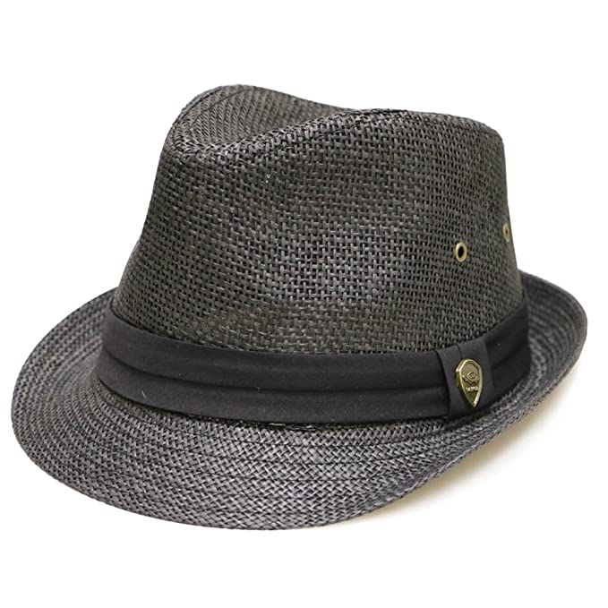 47e02b594 City Hunter Pamoa Pms500 Solid Paper Toyo Straw Fedora Hat 4 Colors ...
