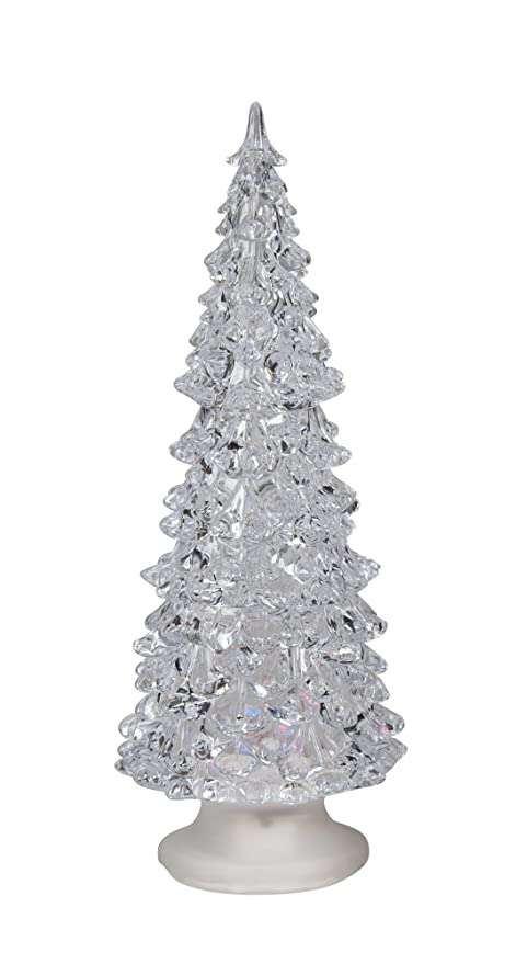 """Color Changing LED Christmas Tree Decoration - 8"""" h Acrylic Battery  Operated Light up Holiday - Amazon.com: Color Changing LED Christmas Tree Decoration - 8"""