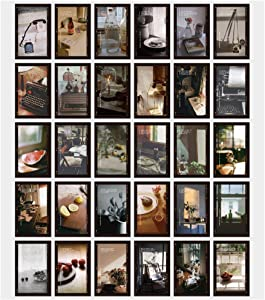30 Pcs Photo Wall Picture Collage Kit, 4X6 inch Room Wall Pictures, Boho Movie Style Room Dorm Wall Decor Aesthetic Art Collage for Girls Boys