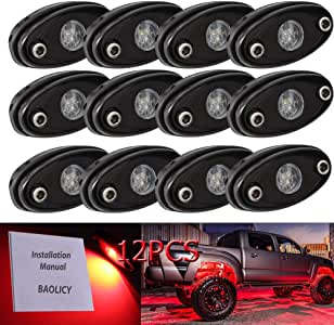 BAOLICY Led Rock Lights White,Jeep Rock Lights JK RZR XJ TJ UTV ATV Off Road Truck SUV Car Boat Underbody Glow Trail Rig Neon Lights Waterproof White 4Pods