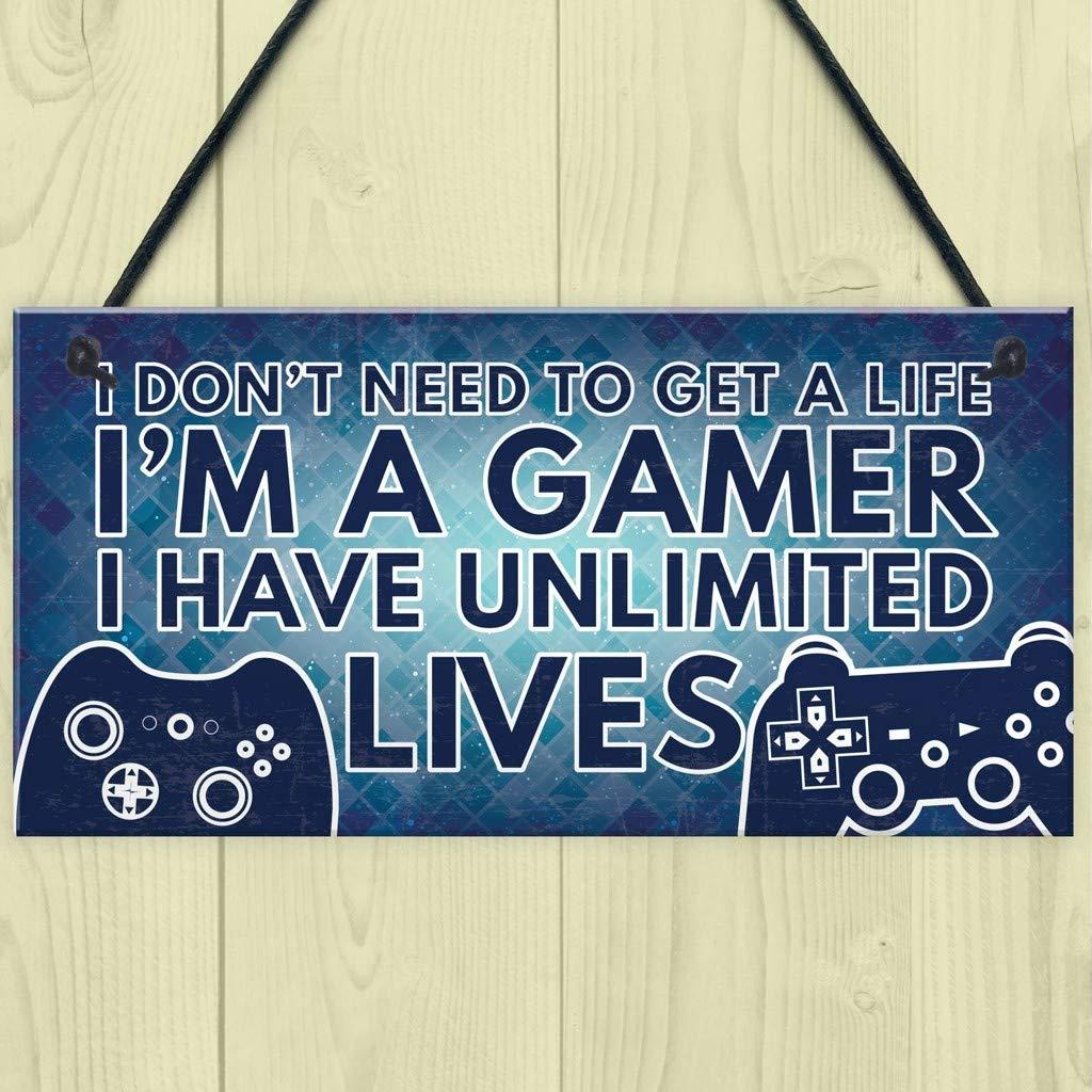 Elevin(TM)  Gamer I'm A Gamer Novelty Birthday Hanging Plaque Gift