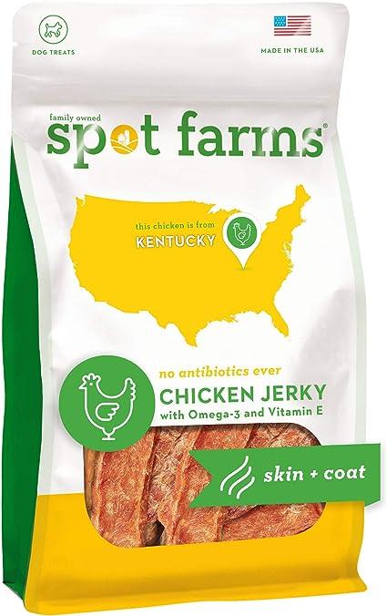 Amazon Com Spot Farms Chicken Jerky Healthy All Natural Dog Treats Human Grade For Skin And Coat 12 Oz Pet Supplies
