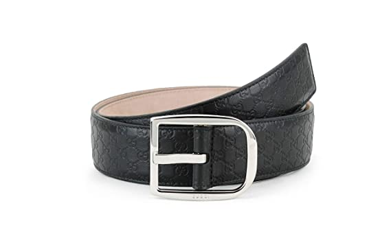 bdde5c273 Amazon.com: Gucci Microguccissima Leather Belt, Black (Nero) (32-34 ...