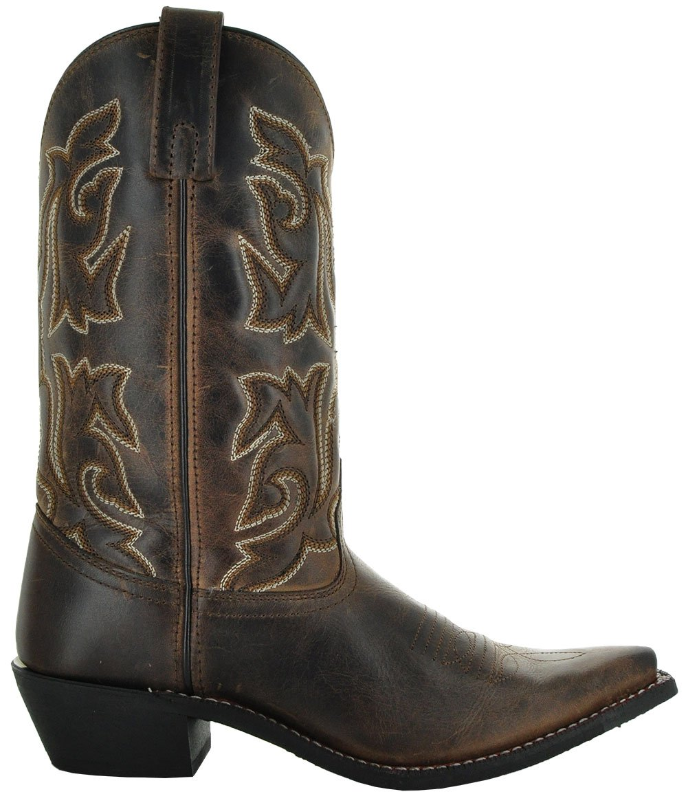 Soto Boots Women's Snip Toe B0792FYMZC Leather Cowgirl Boots M3002 B0792FYMZC Toe 7 B(M) US|Brown 6e8f48
