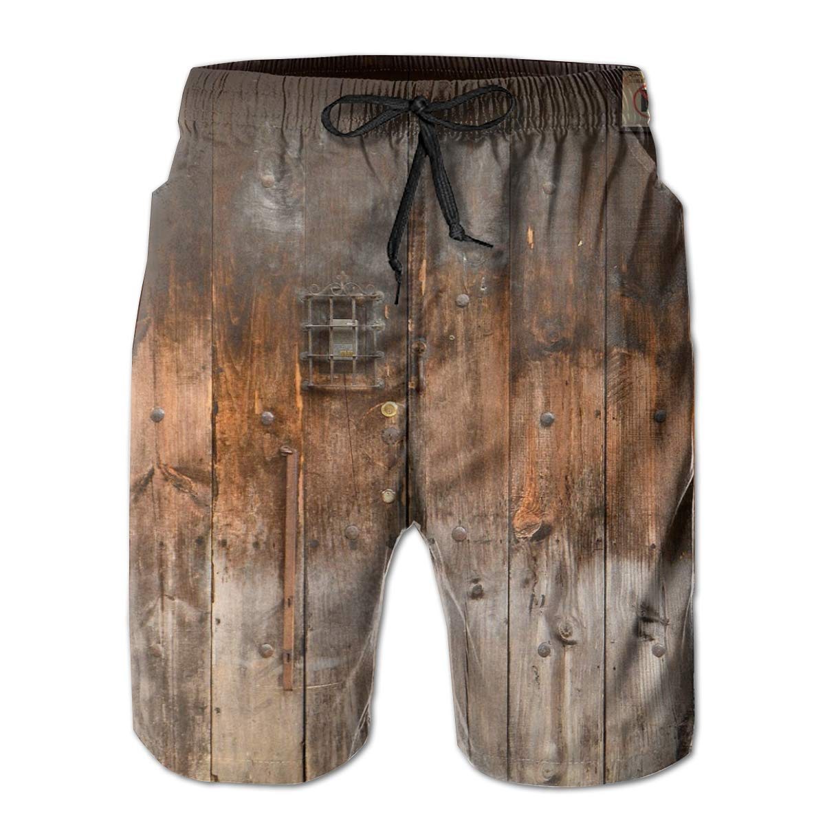 Swim Trunks Summer Beach Shorts Pockets Boardshorts for Men Youth Boys Saxophone in Fire and Water