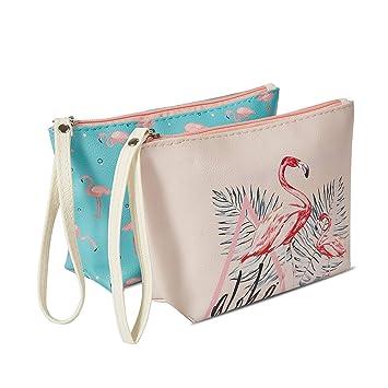 9fe813c18fc4 Amazon.com : 2PCS Large Travel Cosmetic Pouch Bag Waterproof ...