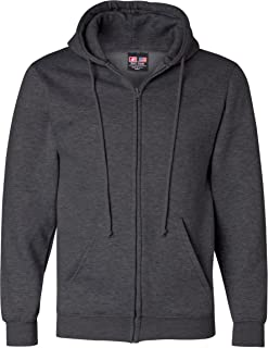product image for Bayside Mens USA-Made Full-Zip Hooded Sweatshirt-900