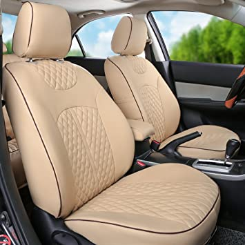 CAR SEAT COVERS full set fit Audi A3 leatherette Eco leather beige