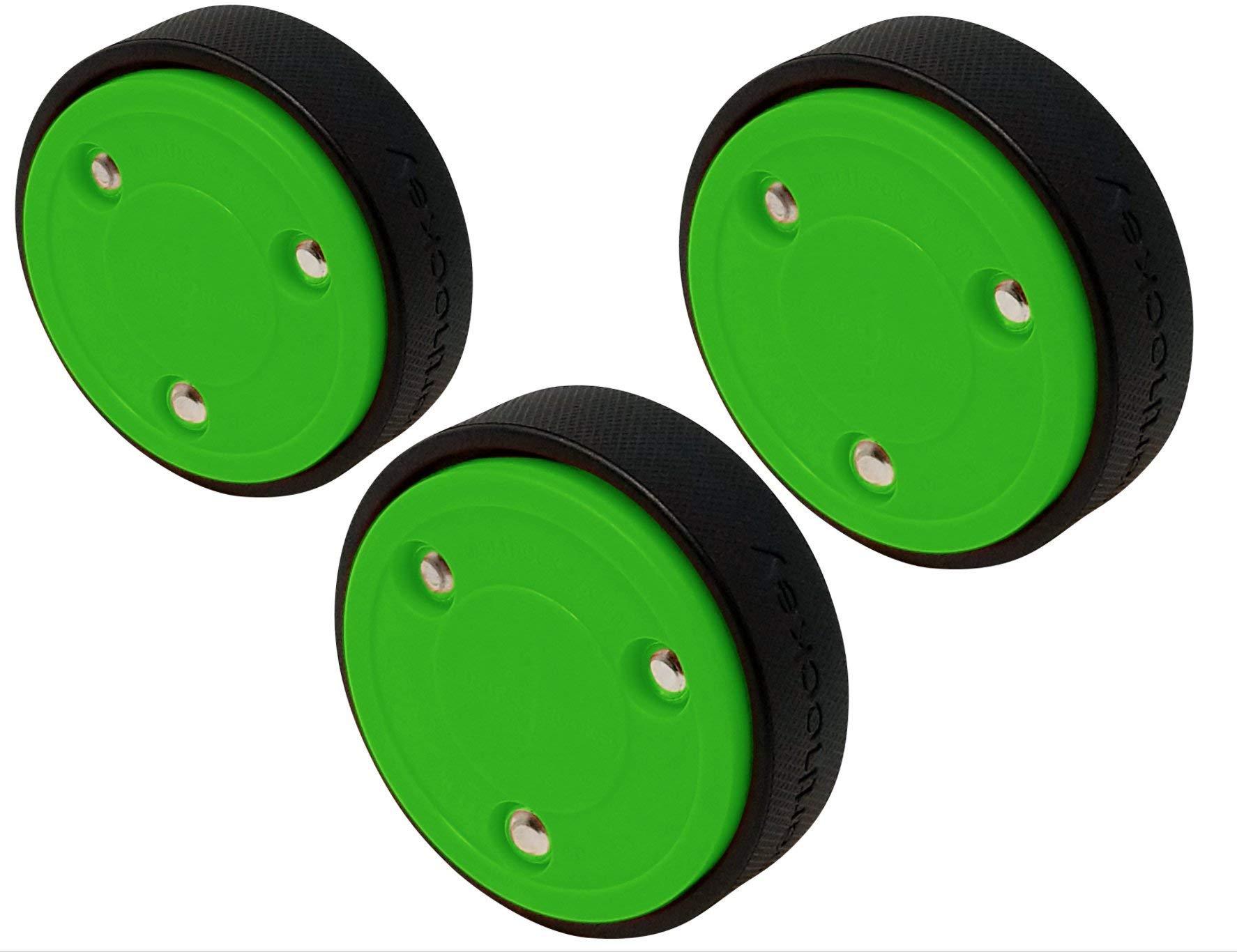 Smarthockey 4oz Slider Hockey Training Speed Puck - Green 3-Pack