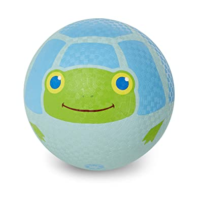 Melissa & Doug Sunny Patch Dilly Dally Turtle Classic Rubber Kickball: Toys & Games