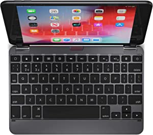 Brydge 7.9 Keyboard Compatible with iPad Mini 4th and 5th Generation | Aluminum | Wireless | Rotating Hinges | 180 Degree Viewing (Space Gray)
