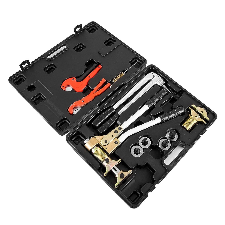 Mophorn Rohrinstallations-Werkzeugsatz Crimpzange Rohrinstallations-Werkzeugsatz PEX 16-32 f/ür TECE TECEflex-Schiebemuffen 16-32mm PEX 16-32