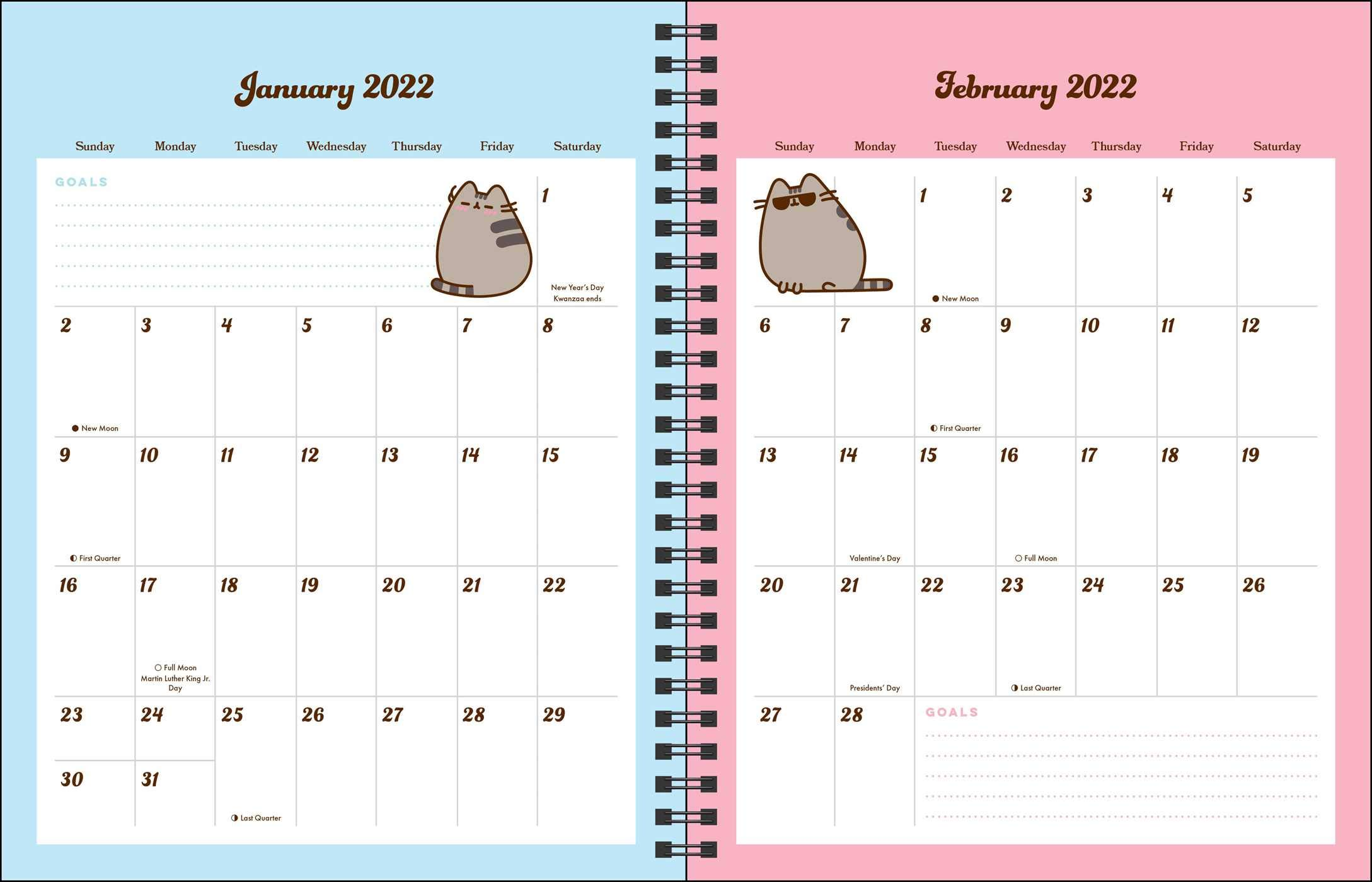 Pusheen Calendar 2022.Buy Pusheen 16 Month 2021 2022 Monthly Weekly Planner Calendar Book Online At Low Prices In India Pusheen 16 Month 2021 2022 Monthly Weekly Planner Calendar Reviews Ratings Amazon In