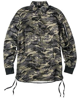 3b617c58ddc6d OXFLY Men's Camo Thumb Holes Hunting Shirts - Camouflage -: Amazon ...