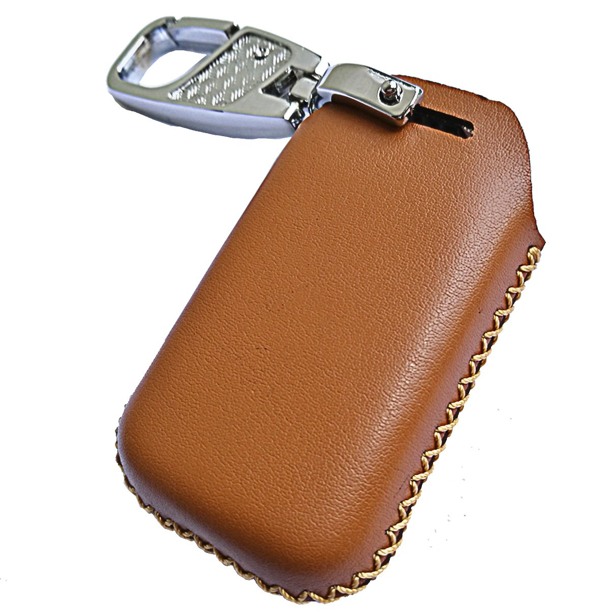 Amazon.com: Alegender Genuine Leather Smart Key Remote Fob Case ...