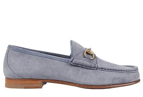 Gucci Mocasines en Ante Hombre Nuevo Labrador Thunder BLU EU 44 307929 CLB00 4710: Amazon.es: Zapatos y complementos