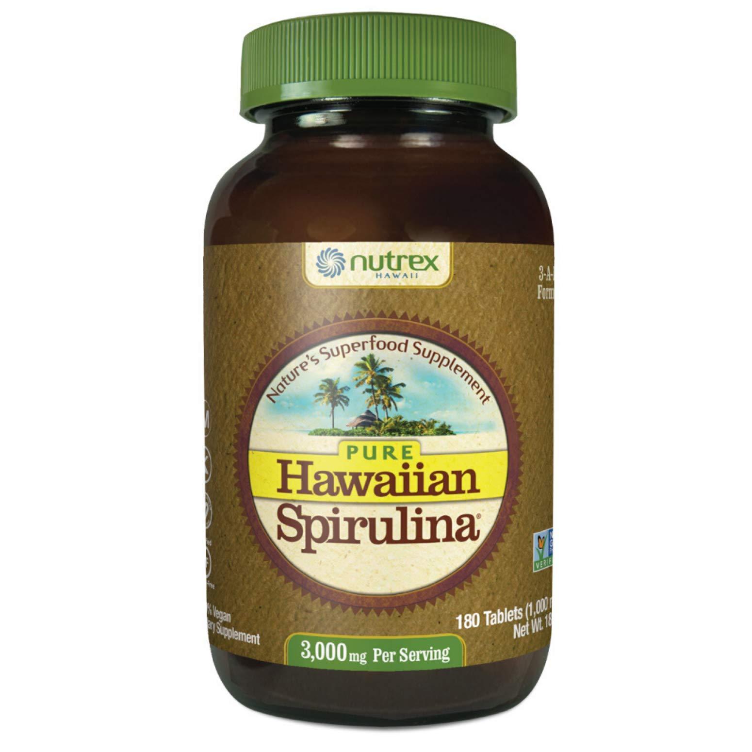 Nutrex Hawaii Hawaiian Spirulina Pacifica 1000 Mgs., 180-Tablet Bottle