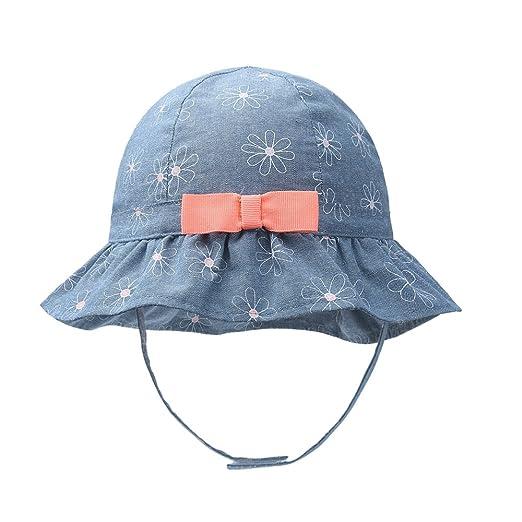 b371ffdc3a14 vivobiniya Toddler Girl Bowknot Sun Hats Baby Cowboy Cotton 0-4T (50CM(Head