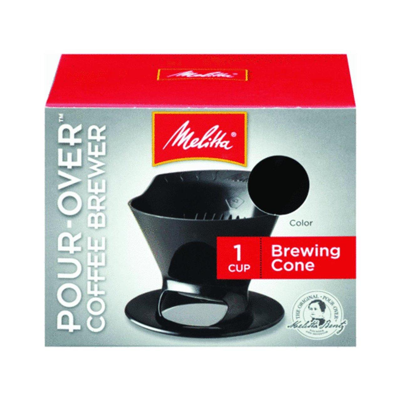 Melitta Ready Set Joe Single Cup Coffee Brewer black