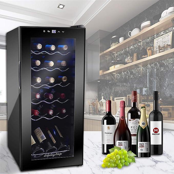 zones de temp/érature 10-18 /°/Écran tactile 35L Display4top Refroidisseur de vin 12 bouteilles R/éfrig/érateur /à vin r/éfrig/érateur de vin noir