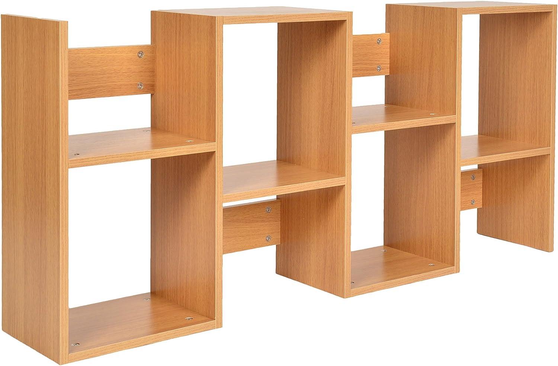 ts-ideen Standregal B/ücherregal CD-Regal Aufbewahrung Holz Natur Modern Design 130 x 60 cm