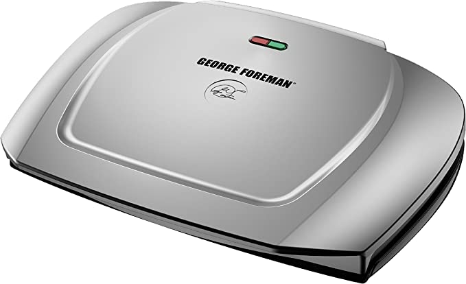 George Foreman 9-Serving Basic Plate Electric Grill and Panini Press - Best Dual Design