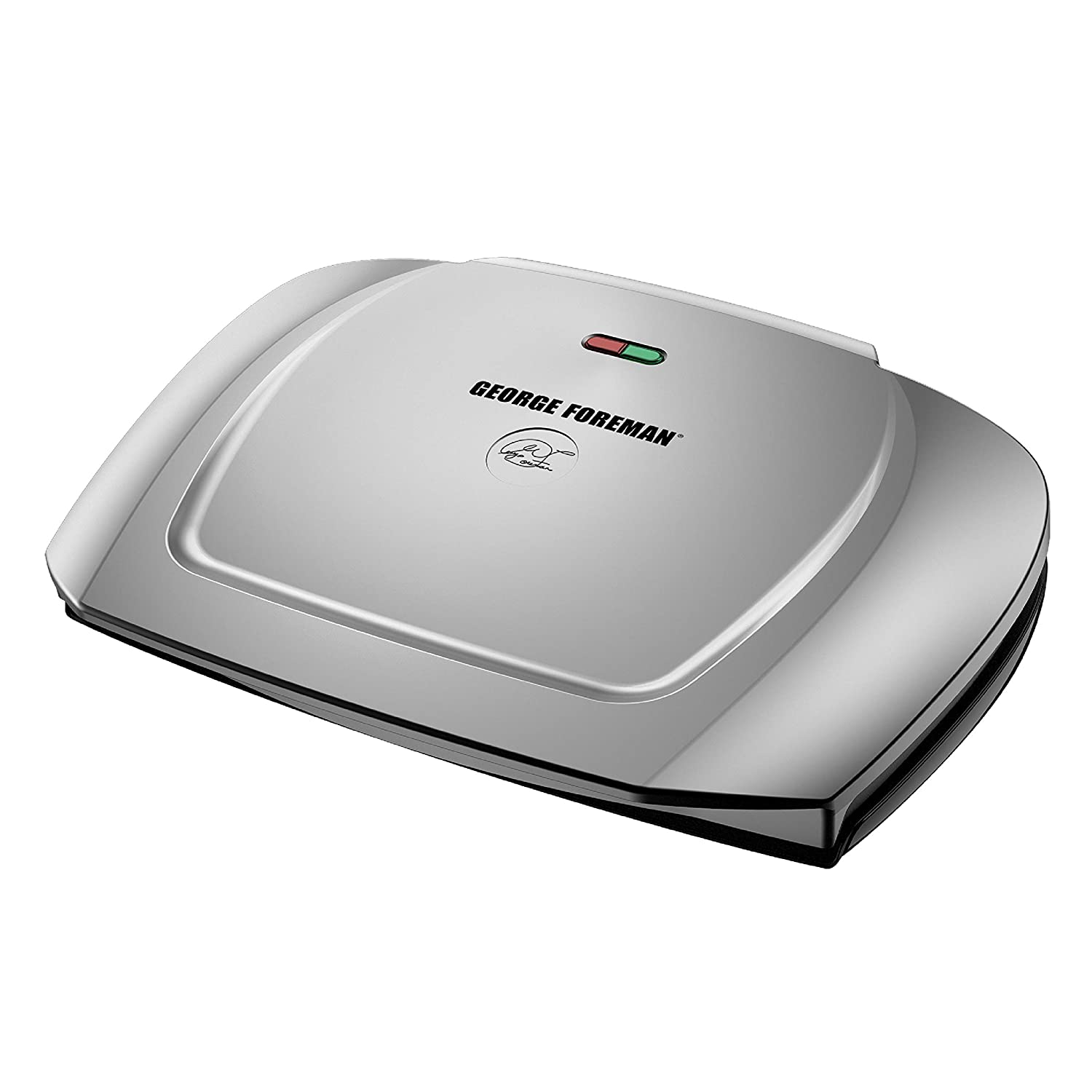 George Foreman 9-Serving Basic Plate Electric Grill and Panini Press, 144-Square-Inch, Platinum, GR2144P