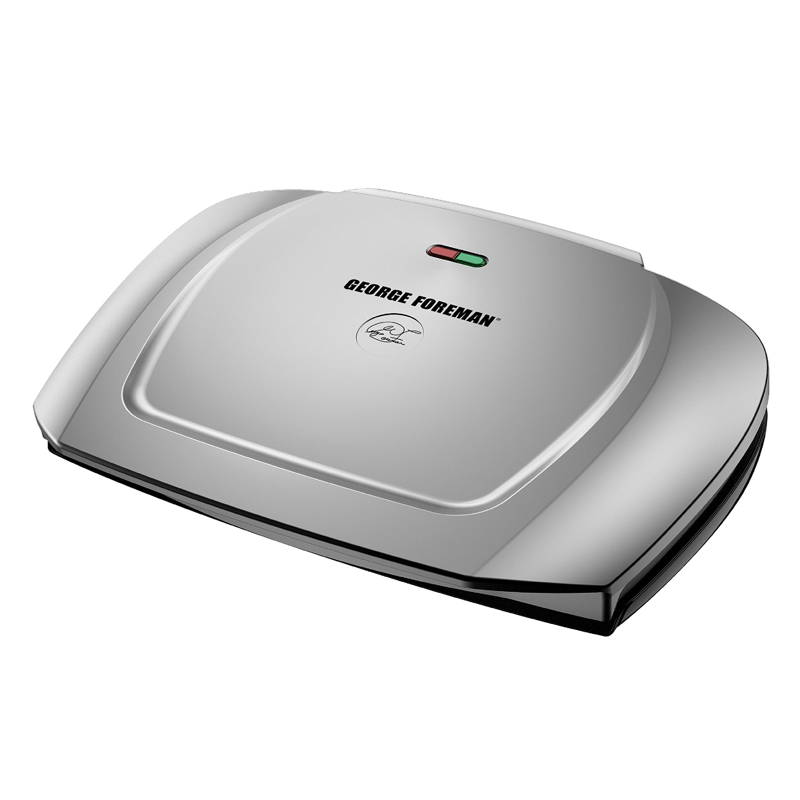 George Foreman 9-Serving Basic Plate Electric Grill and Panini Press, 144-Square-Inch, Platinum, GR2144P by George Foreman