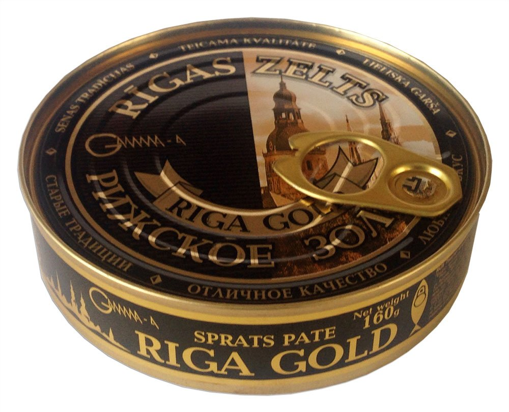 Old Riga Smoked Sprats Pate Topping 160g/5.6oz (Pack of 8) by Old Riga