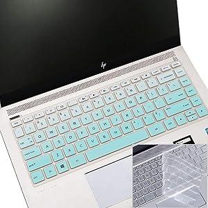 "2Pcs Keyboard Cover for 2020 2019 2018 HP 14"" Laptop, HP Pavilion X360 14M-BA 14M-CD 14M-DH 14-BF 14-cm 14-CF 14-DF 14-DK 14-DS 14-DQ Series Keyboard Skin"