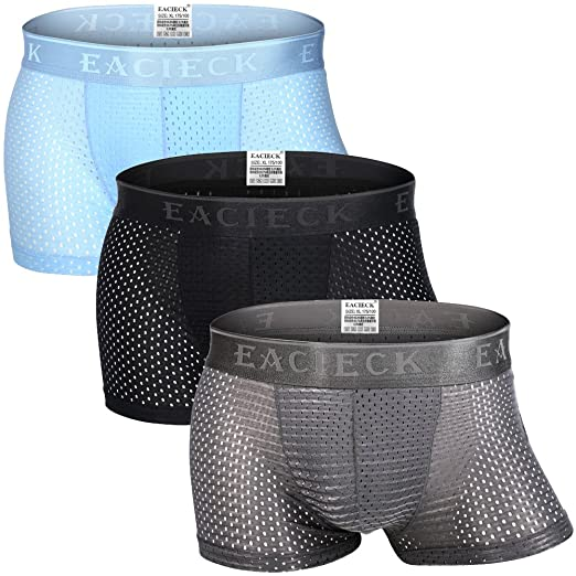6a30d7733e47 Men's Boxer Briefs,Swimming Trunks,Boxers Shorts,Gents Ice Silk Breathable  mesh Underwear