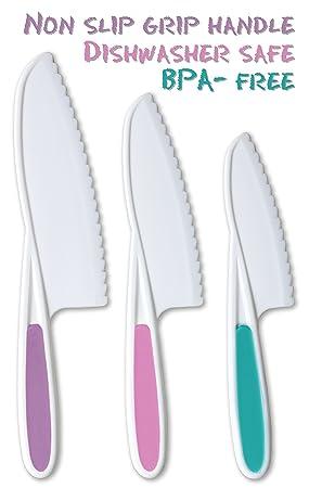 tovla Kids 3 piezas nailon cocina juego de cuchillos: Los ...