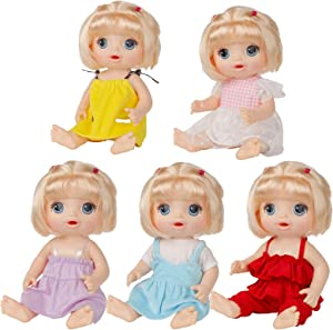 XADP 5 Pack Baby Doll Clothes Outfits for 12 Inch Alive Baby Dolls, Set of 5
