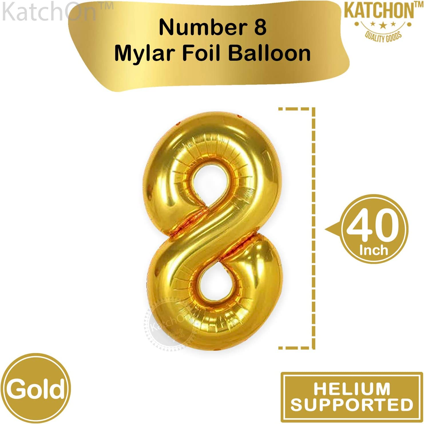 Department56 4014562 Age 8 Balloons Gold