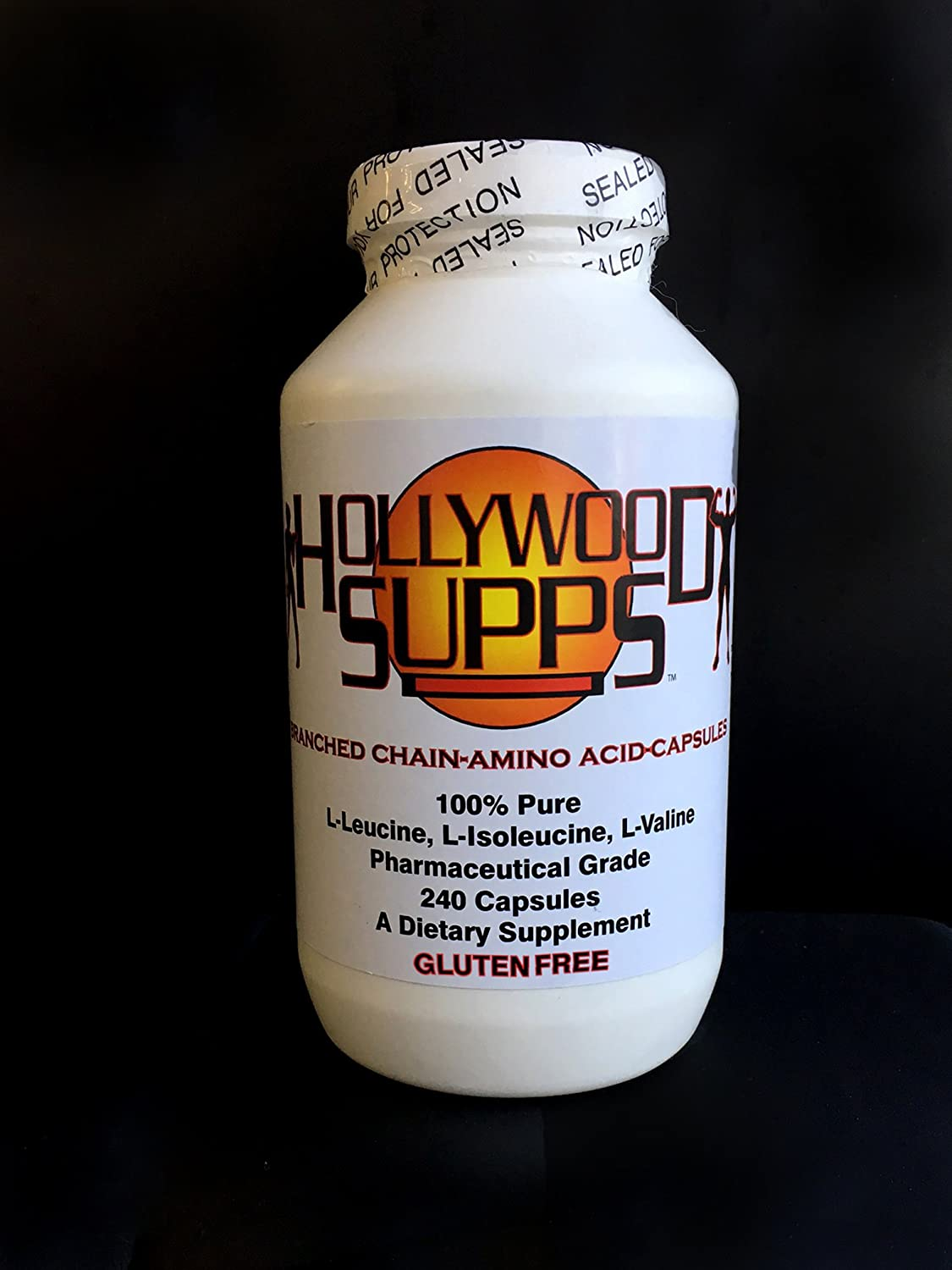 Hollywood Supps BCAA Capsules 100 Pure 3200mg