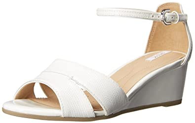 Geox D Lupe C D5283C000Fmc1000, Sandales compensées femme - Blanc (White),  35 06f84446f066