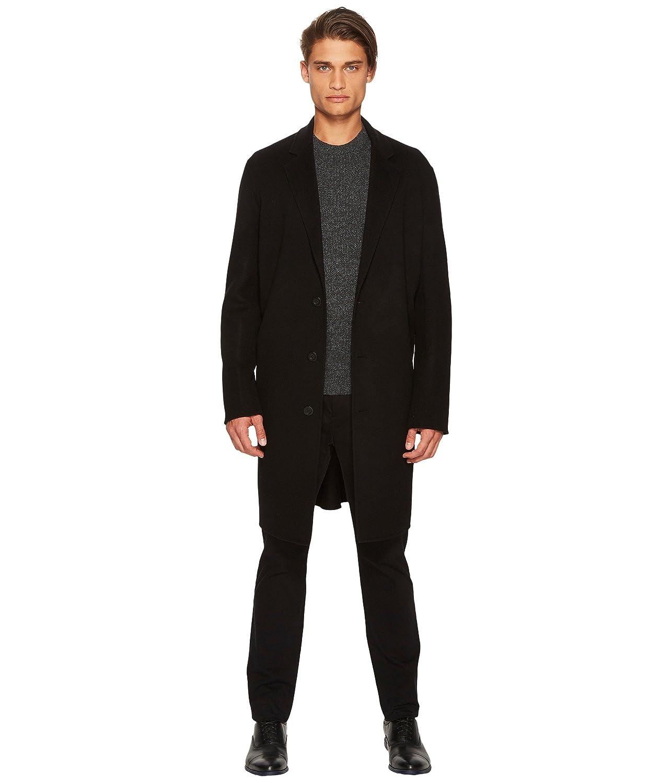 ヴィンス アウター コート Notch Lapel Coat Black [並行輸入品] B079Y4VB2Y  Large