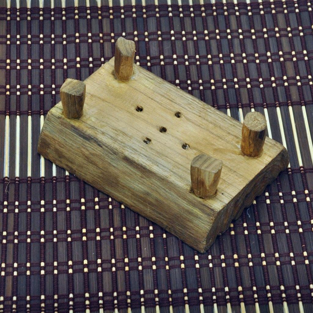 Kitzen Naturale Portasapone in legno Staffa di sapone Fatto a mano Teak legno ecologico Portasapone Scolare la mensola Casa Accessori da bagno Bagno Doccia Scatola di sapone