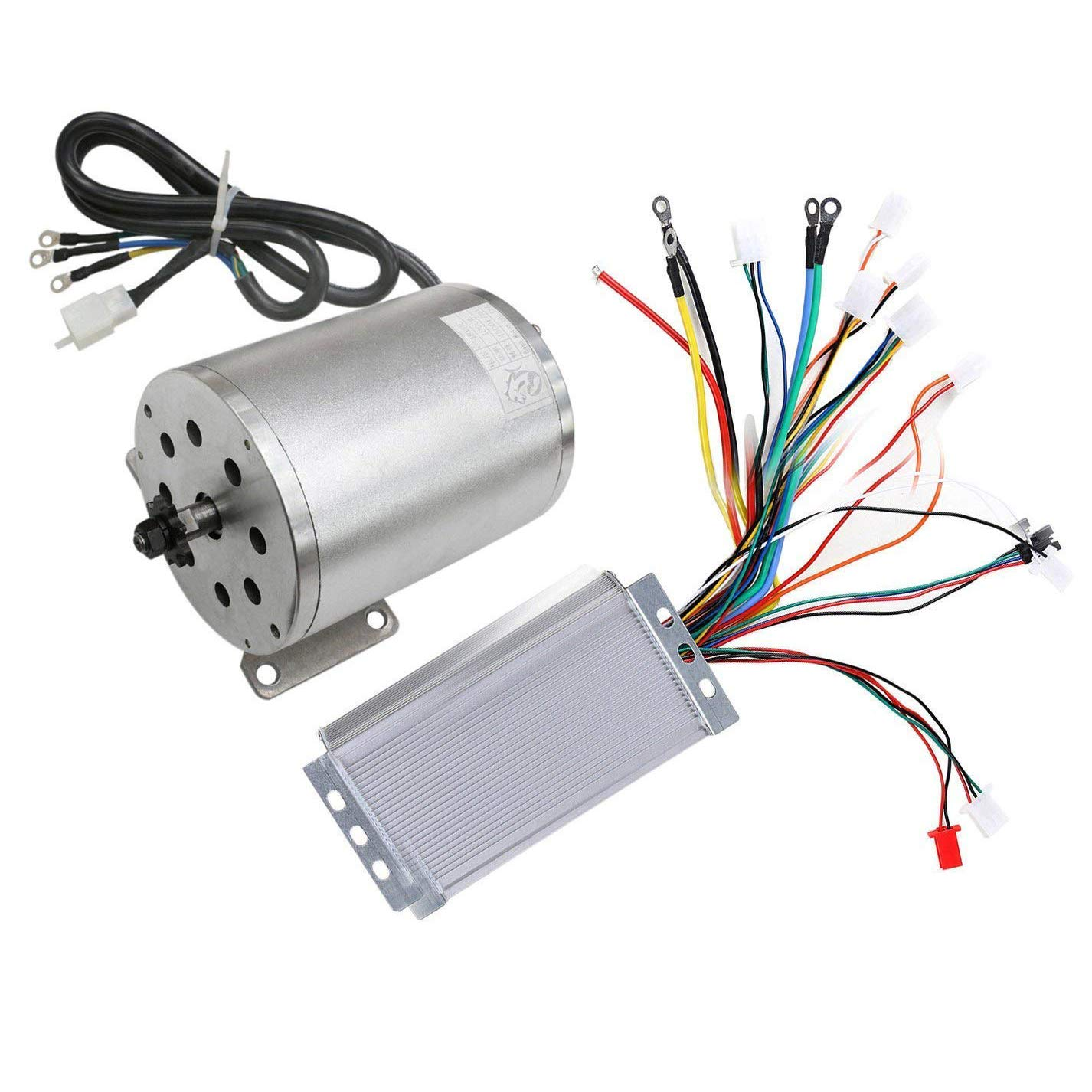 Tdpro 48v 1800w Brushless Electric Motor And Controller Set For Go Motorized Bicycle Wiring Diagram Kart Scooter E Bike Atv Moped Mini Bikes
