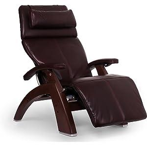 "Perfect Chair ""PC-610 Omni-Motion Classic"" Premium Full Grain Leather Zero Gravity Recliner, Burgundy"