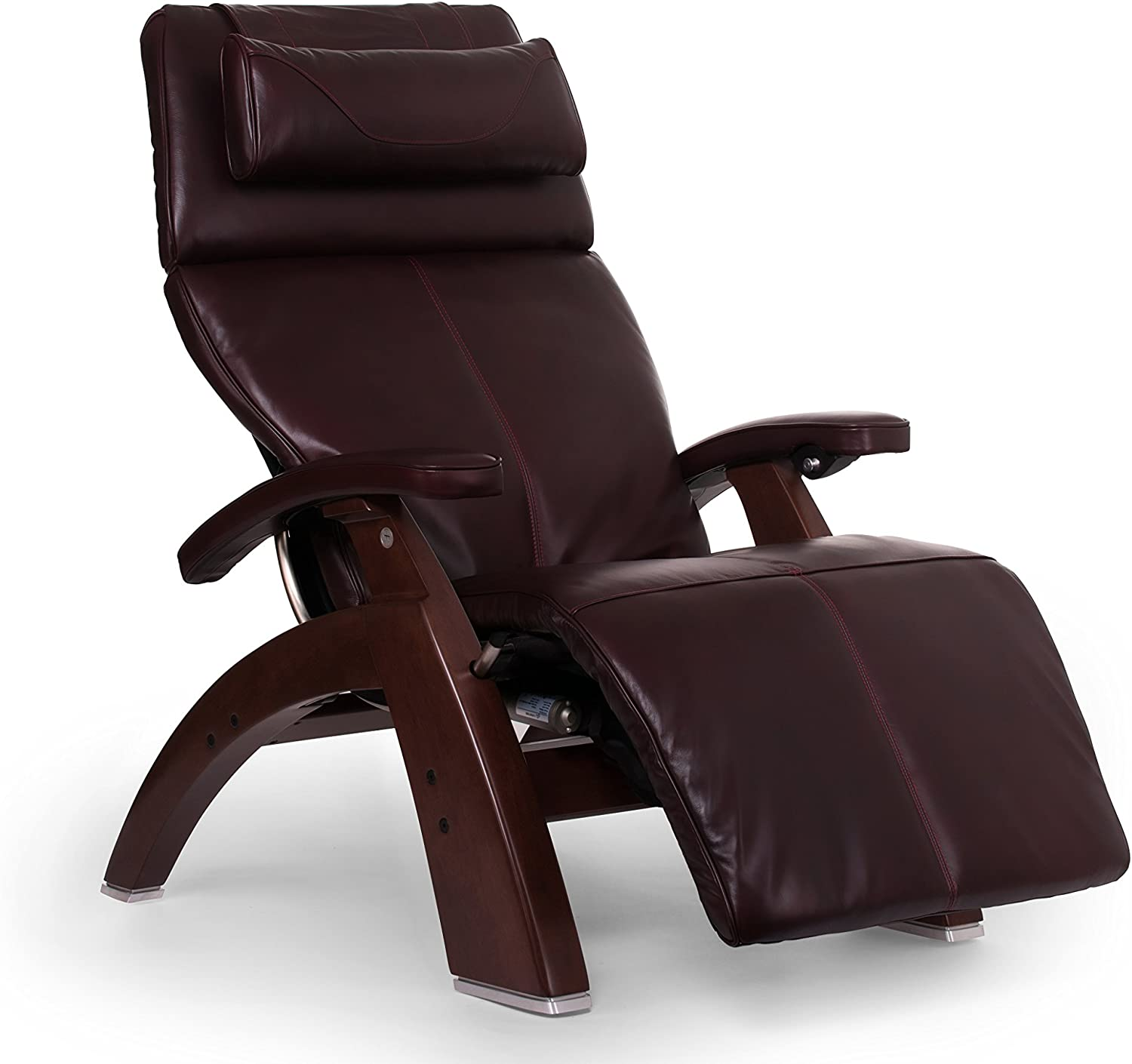 "Perfect Chair ""PC-610 Omni-Motion Classic"" Premium Full Grain Leather Zero Gravity Recliner, Burgundy"