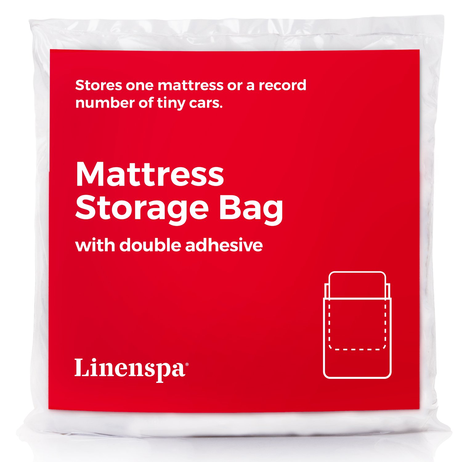 LINENSPA Mattress Storage Bag with Double Adhesive Closure - Fits Twin and Twin XL LS01TXMB