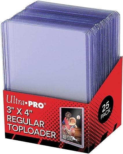 """Ultra Pro 3/""""x4/"""" Regular Toploader Pack Sealed 25 pcs"""