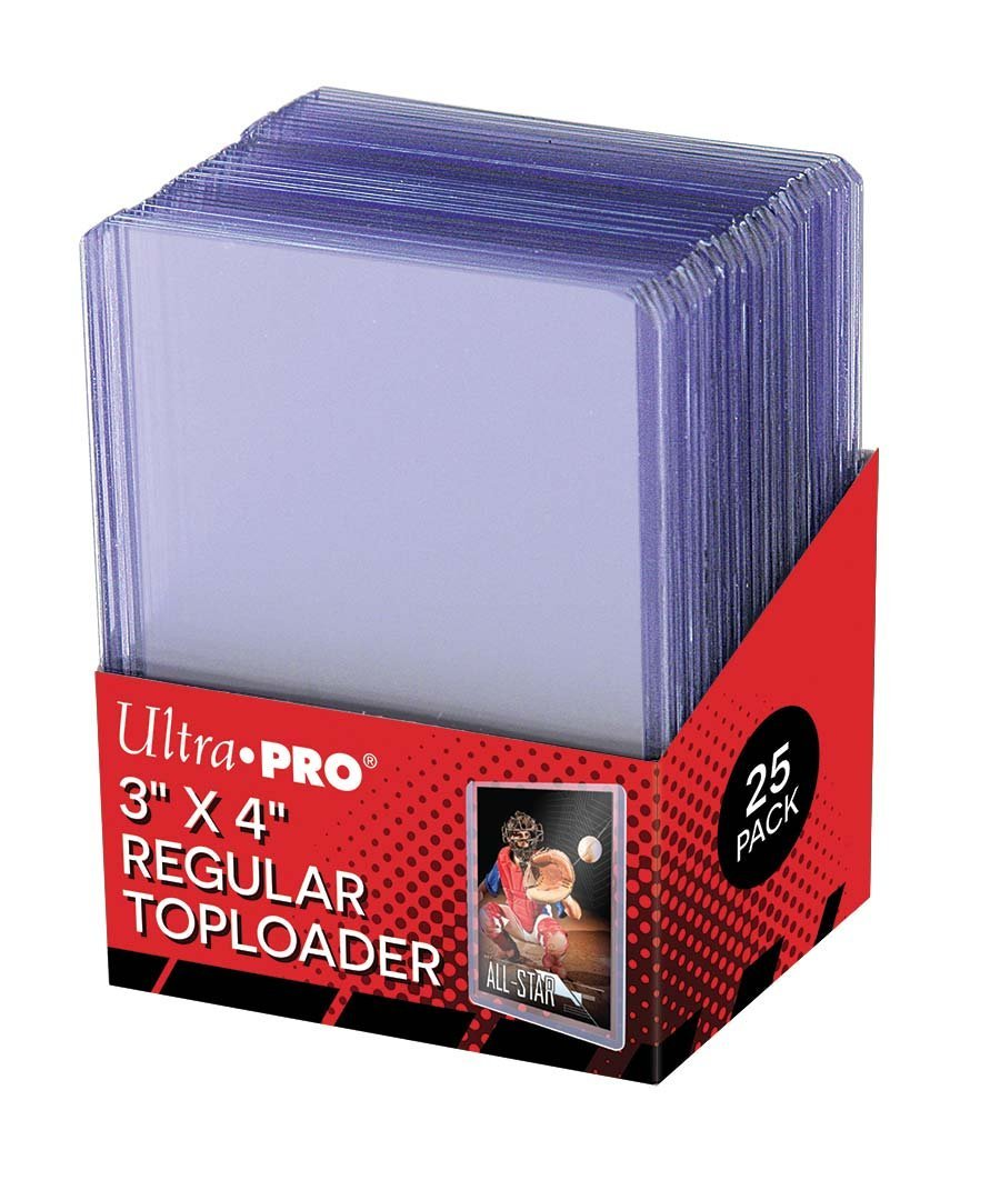 1,000 Ultra Pro Regular Series 3''x4'' Toploaders Case 1000 - 40 Sealed 25ct Packs by Ultra Pro