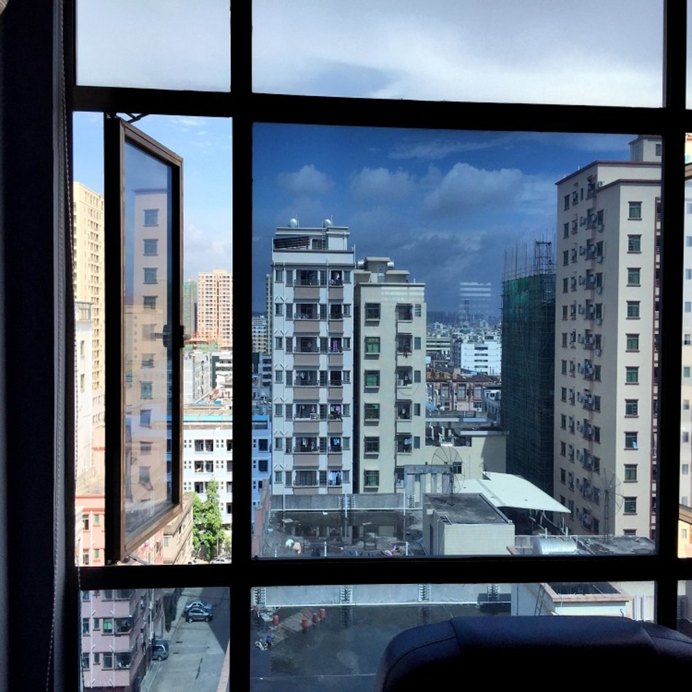 YQ WHJB Mirror Window film,Anti-uv Sun protection film,Pet Self adhesive One way Heat rejection control Explosion-proof Glass Balcony Kitchen Sun control solar films-A 30x100cm(12x39inch)