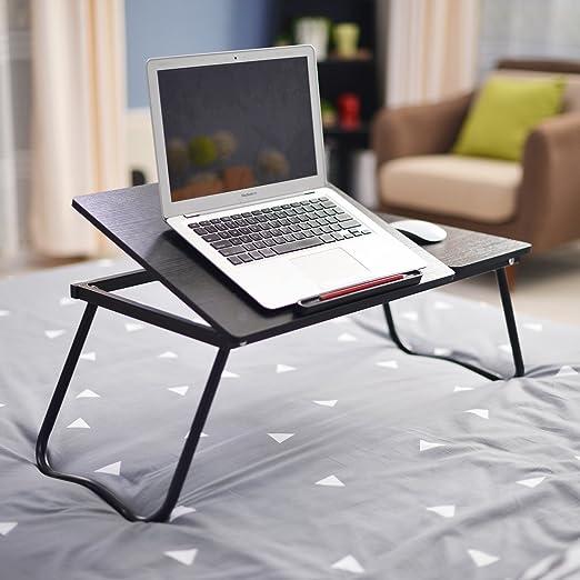 DlandHome Laptop Ajustable Mesa de Cama, Escritorio de pie ...